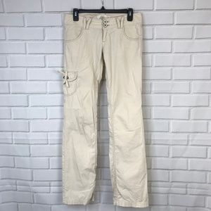Guess Pants Cargo Khaki Vintage Boot Cut Low-Rise